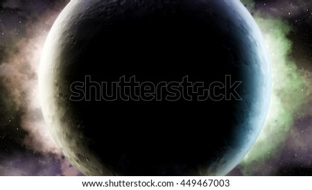Abstract scientific background of Universe scene in outer space