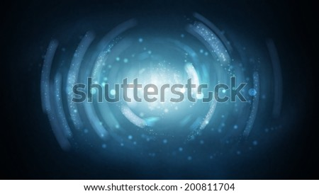 abstract scintillating blue background - stock photo