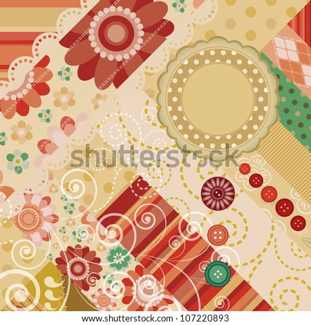 abstract scrap background with space for text.
