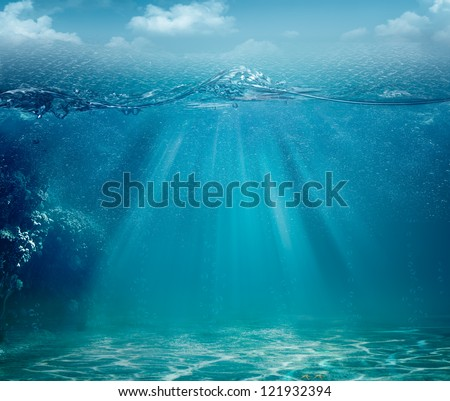 Abstract sea and ocean backgrounds for your design - stock photo