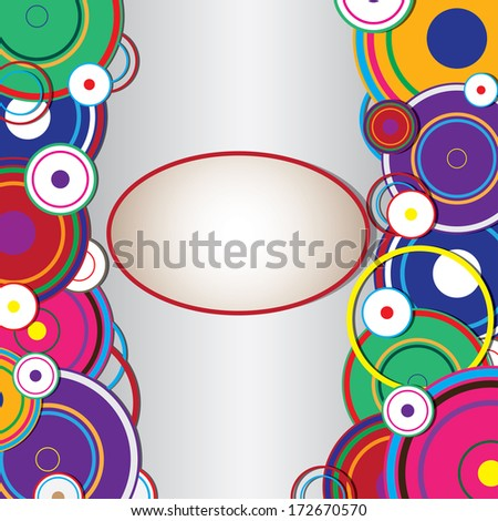 Abstract seamless background made of set of rings. Illustration.