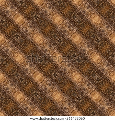 Abstract seamless background or texture geometric illustration based on motive of coypu fur. Beautiful natural motive.  - stock photo