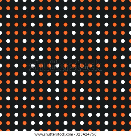 Abstract seamless background with many white and red circles - stock photo