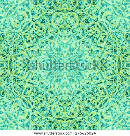 Abstract Seamless Background with Symbolical Colorful Floral Patterns - stock photo