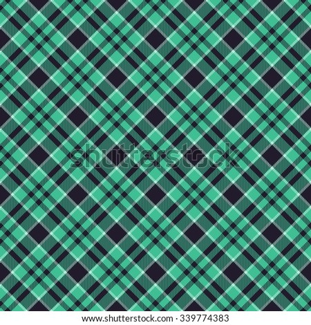 Abstract seamless checkered textile pattern - digitally rendered graphic