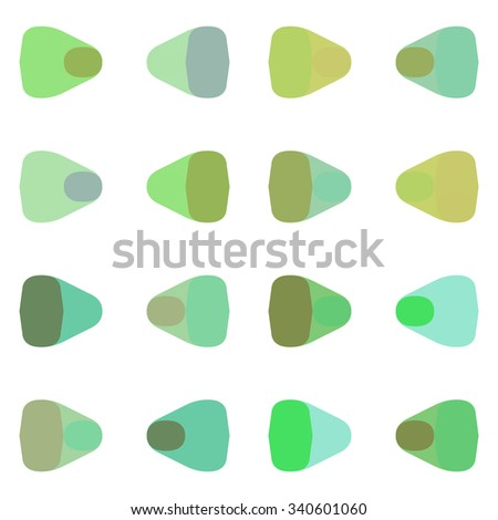 Abstract seamless geometric green pattern. Repeating geometric shapes