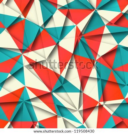 Abstract seamless geometric pattern - stock photo