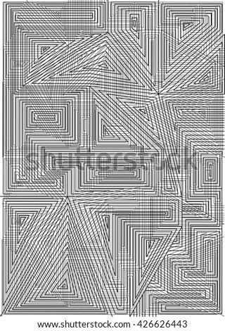 Abstract Seamless geometrical pattern. black and white texture with stylized linear,template beautiful.