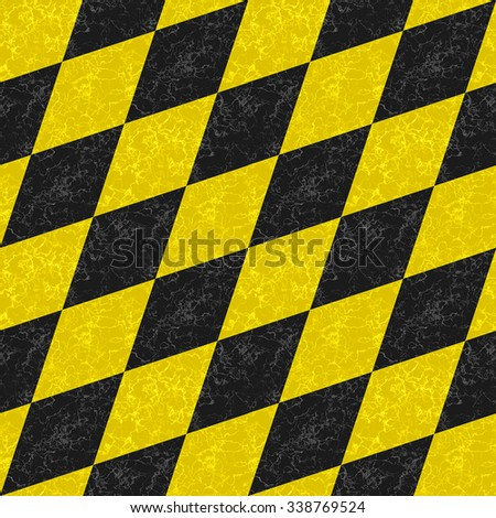 Abstract seamless gold and black diamond pattern of beveled veined squares