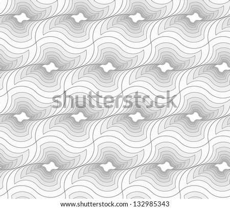 Abstract seamless gray pattern with spiral holes