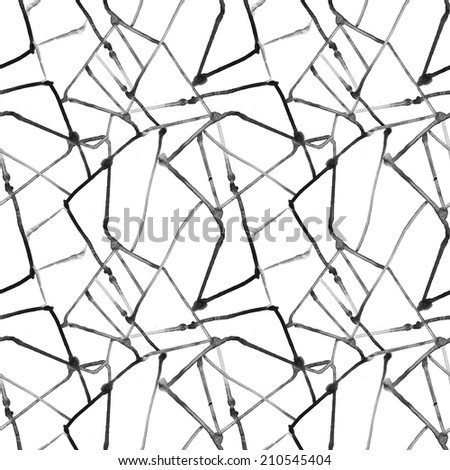Abstract seamless greyscale watercolor pattern - stock photo