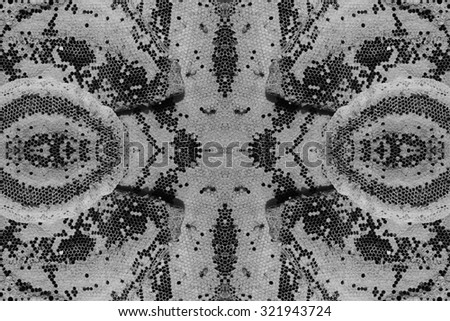 Abstract Seamless hexagonal cells of a hive after harvesting honey