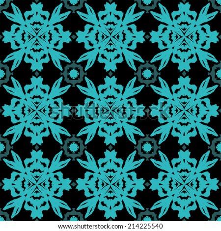 abstract seamless pattern, kaleidoscope background - stock photo