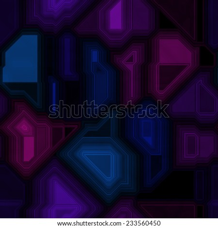 Abstract seamless pattern of dark colorful circuit - digital technology pattern - stock photo