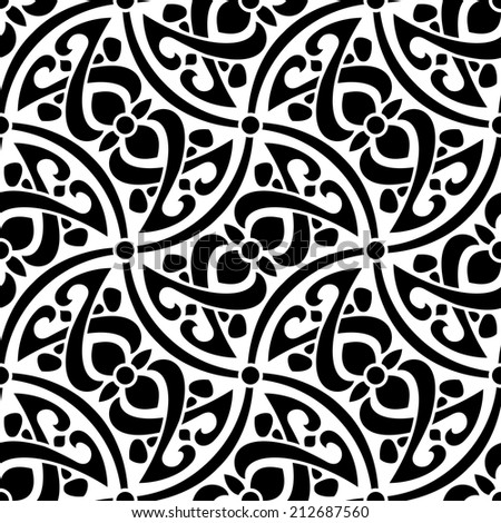 Abstract seamless pattern raster version - stock photo