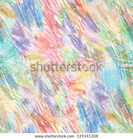 Abstract seamless pattern. Seamless pattern of the color pencils strokes. It is possible to repeat (duplicate) it continuously without any seams. - stock photo