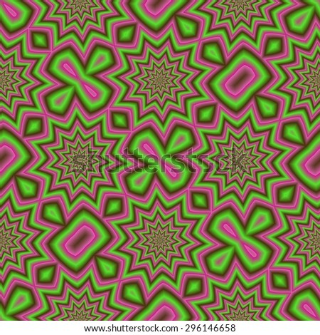 Abstract seamless pattern with a psychedelic motif - stock photo
