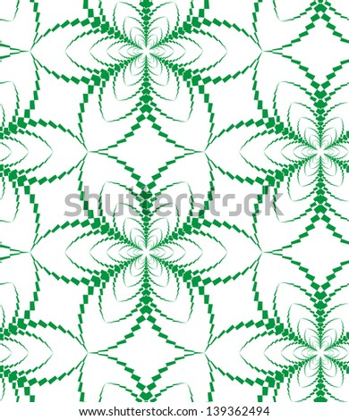 Abstract seamless pattern with stylized six flower - stock photo