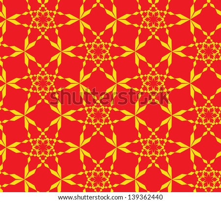 Abstract seamless pattern with stylized snowflakes - stock photo