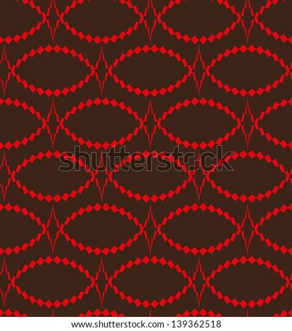 Abstract seamless pattern with thorny oval - stock photo