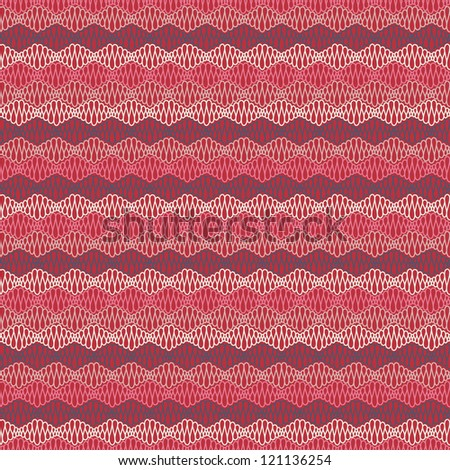 Abstract seamless pink pattern with curly lines