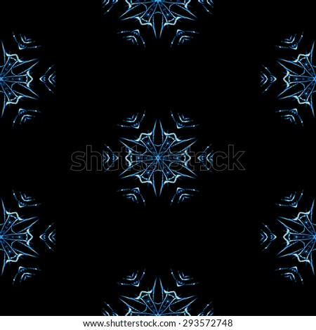 Abstract seamless snowflakes in winter texture or background - stock photo