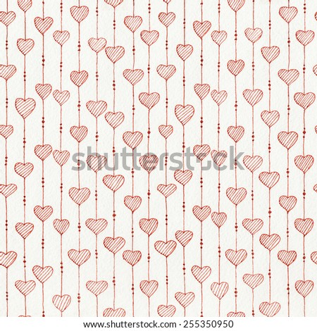 Abstract seamless striped hand drawn ink pattern