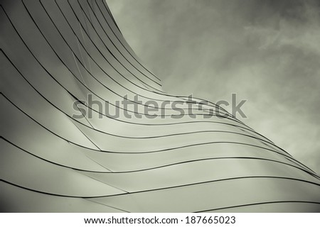 Abstract section of a modern building.