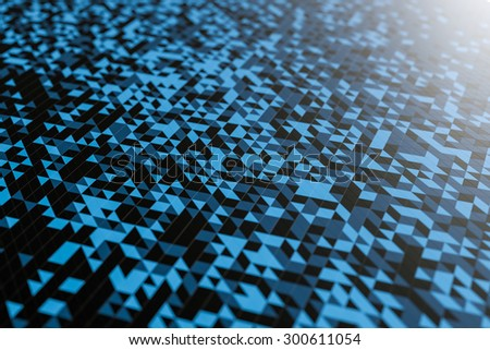 Abstract shape from triangles - stock photo