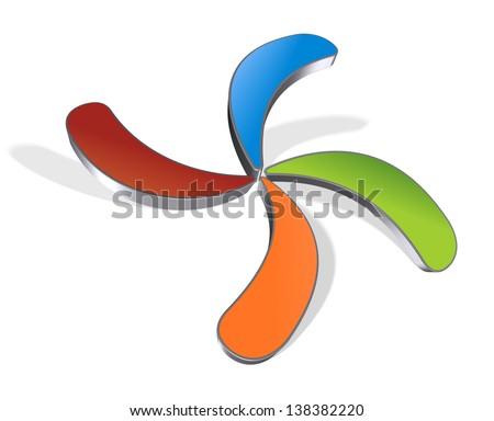 Abstract shape logo idea - business brand identity graphic - stock photo
