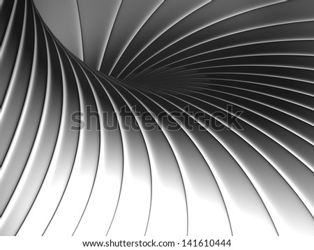 Abstract shape metal background 3d illustration