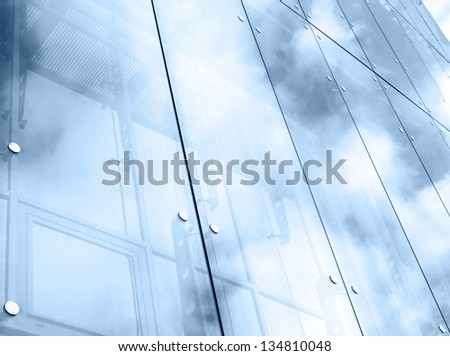 Abstract shapes from a modern building - stock photo