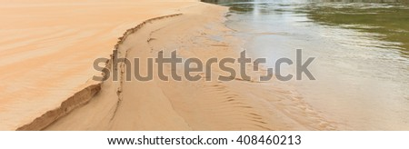 abstract shapes in the sand