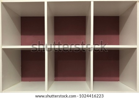 Abstract shelves storage