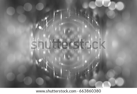 Abstract shining grey bokeh background. Fashionable illustration.