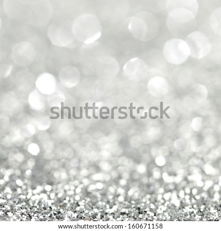 Abstract shiny glitter bokeh christmas background - stock photo