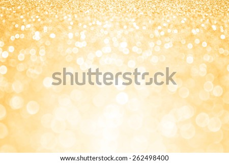 Abstract shiny gold sparkle glitter background - stock photo