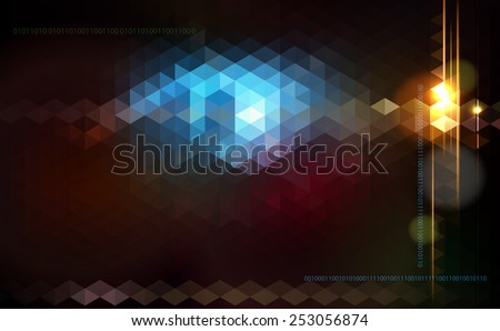 Abstract shiny  technology trendy background. Raster version. - stock photo