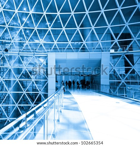 Abstract shot of modern building - stock photo
