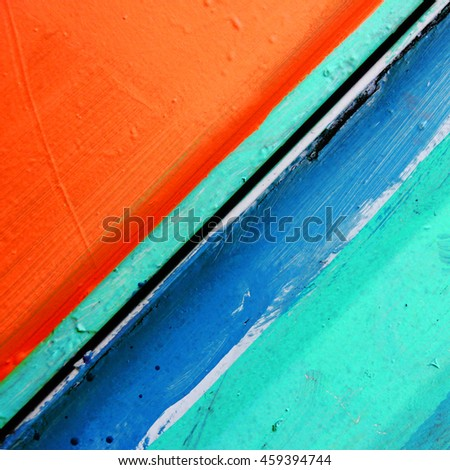 Abstract shot of old flaked and chipped painted wood.