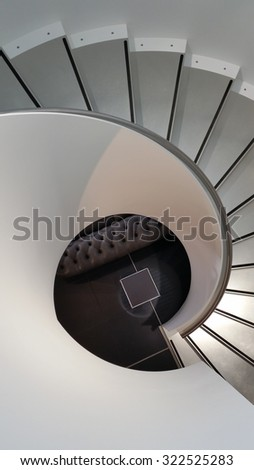 abstract shot of stairs in a store
