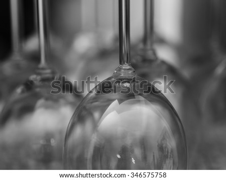 abstract shot of wine glasses - stock photo