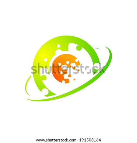 Abstract sign technology Branding Identity Corporate logo design template Isolated on a white background - stock photo
