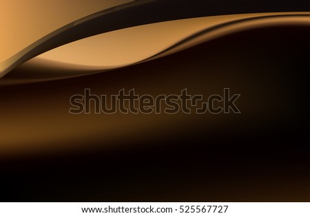 Abstract silken brown background with smooth and flowing lines