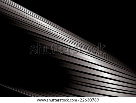 Abstract silver and black background with room to add your own copy - stock photo