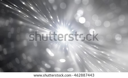 Abstract silver background. Explosion star.