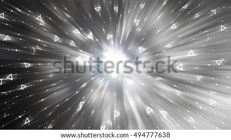 Abstract silver background. Explosion star. illustration digital.