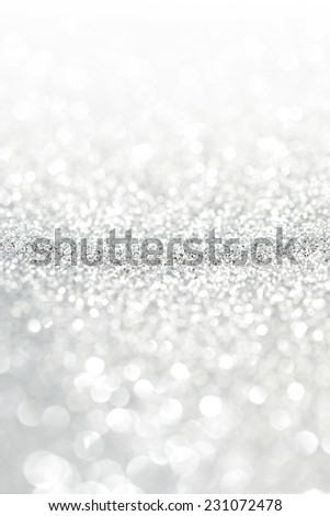 Abstract silver bokeh background with texture - stock photo