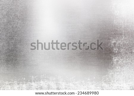 Abstract silver defocused grunge background with bokeh lights - stock photo