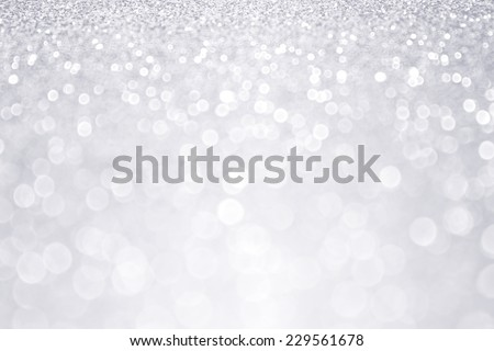 Abstract silver glitter sparkle background - stock photo
